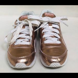 Reebok metallic rose gold